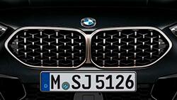 Решітка радіатора BMW в сітчастому дизайні.