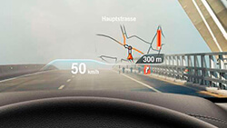 Проекционный дисплей BMW